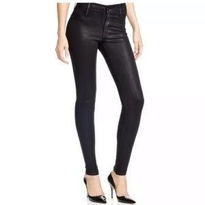 James jeans twiggy black metallic jeans